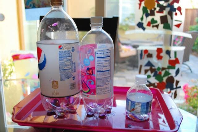 bottles for an art project