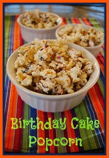 Food for Children, Birthday Cake Popcorn
