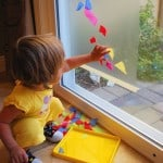 Contact Paper Art – Tissue Paper Sticky Window