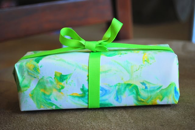 shaving cream gift wrap