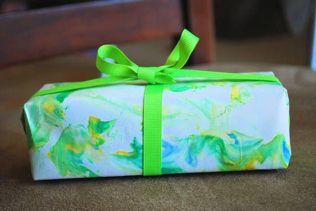 shaving cream gift wrap