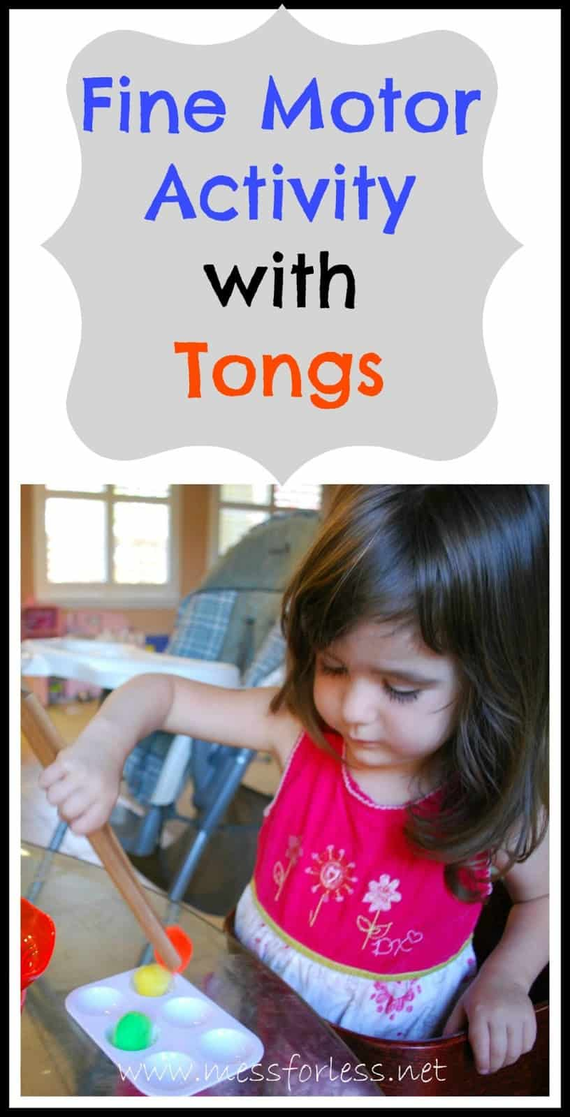 Fine Motor Skills Activity With Tongs Mess For Less