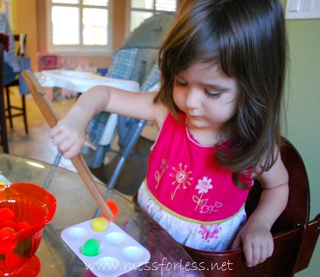 child doing a fine motor skills activity