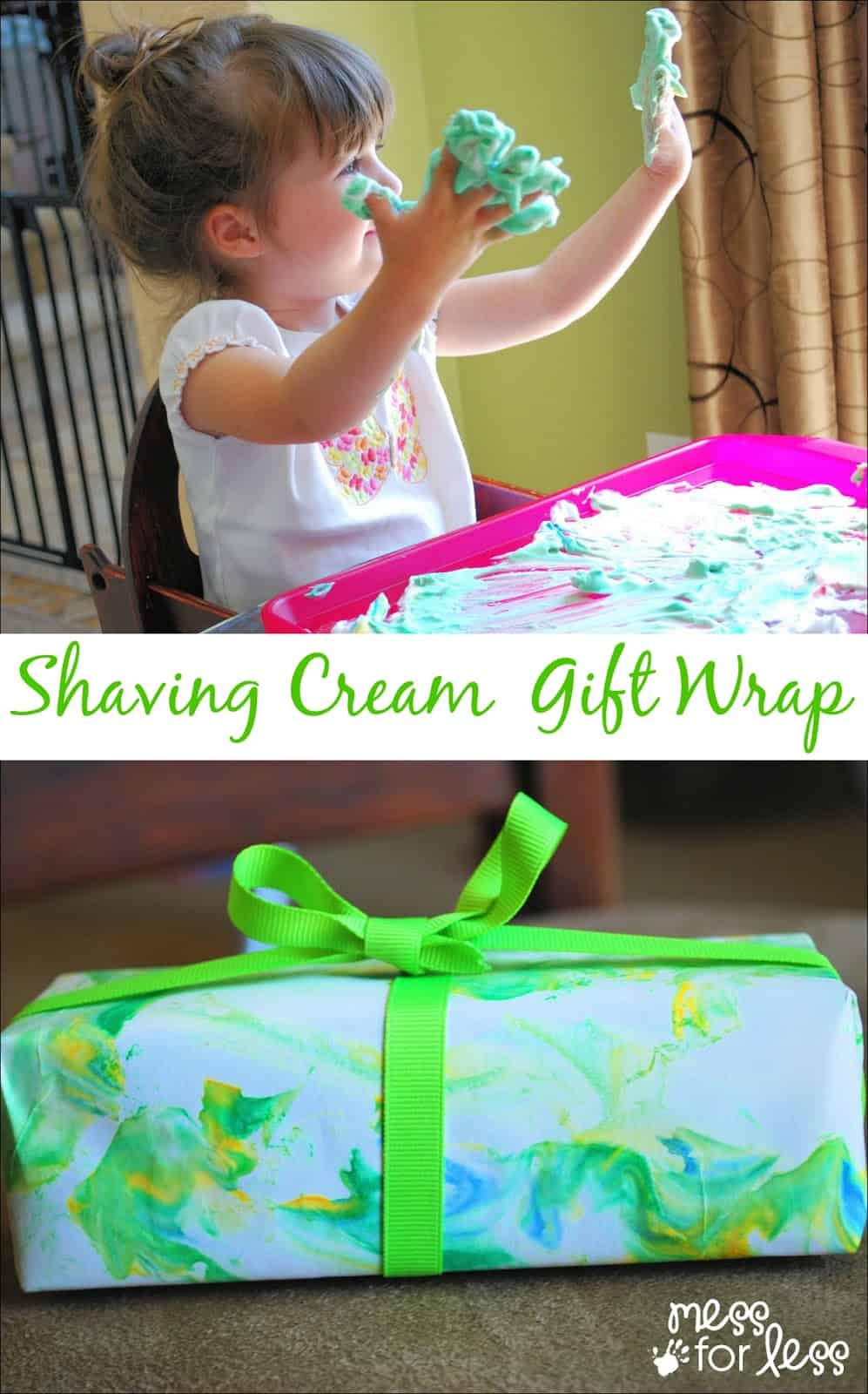 Shaving Cream Cards and Gift Wrap - It's easy for kids to make beautiful cards and gift wrap using marbled shaving cream.