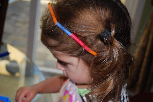toddler straw headband