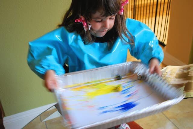 child marble painting