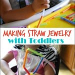 Toddler Activity: Making Straw Jewelry
