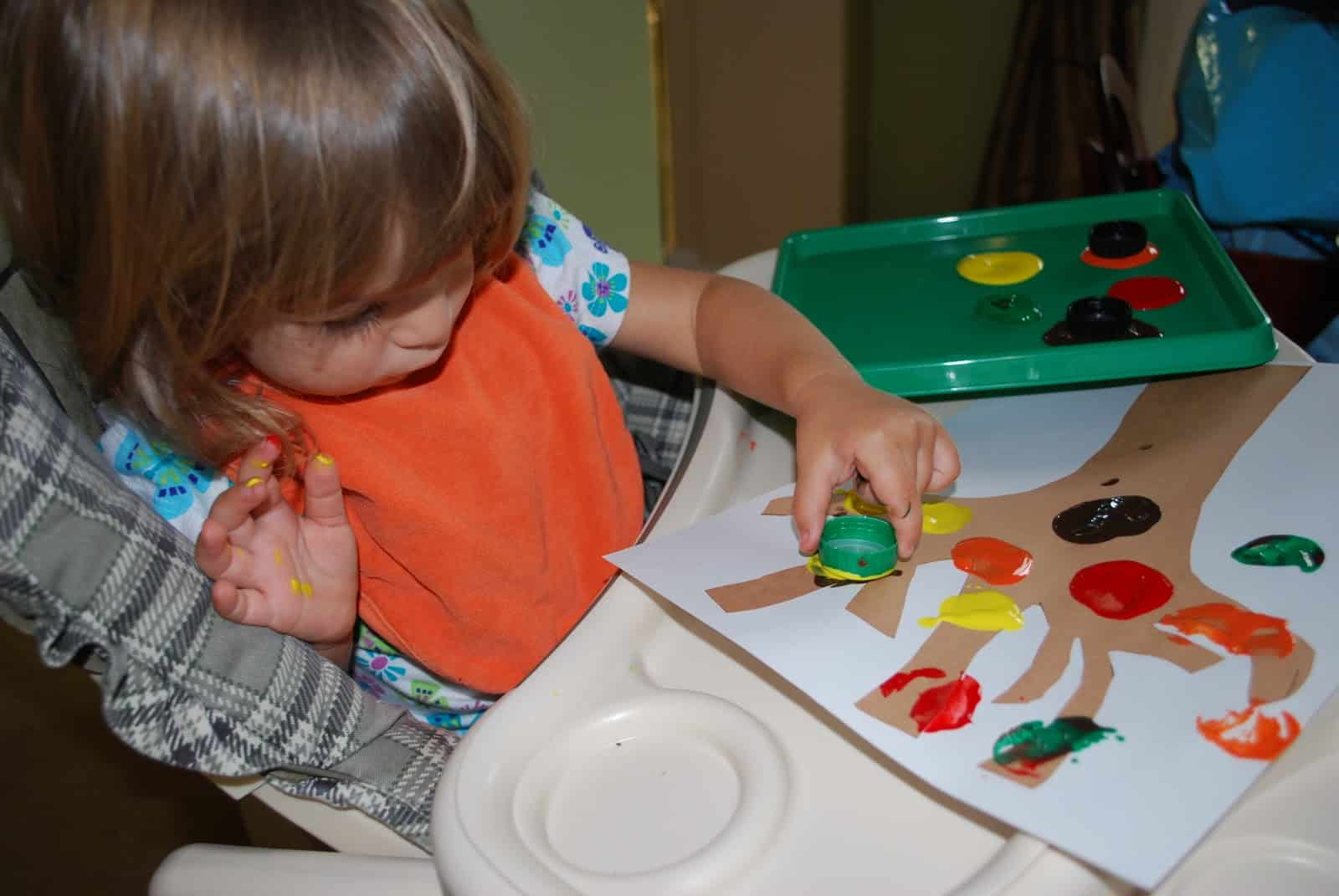 fall tree craft for toddlers mess for less