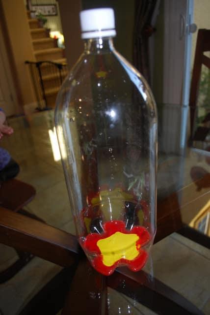 making soda bottle pumpkins