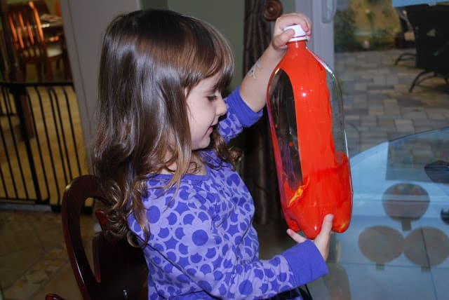 shaking a bottle