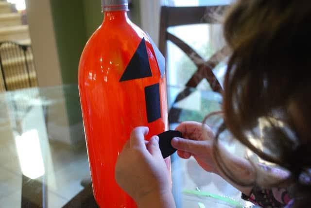 kid made halloween craft