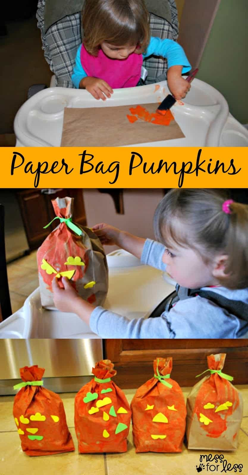 Halloween Crafts - Paper Bag Pumpkins: Simple for kids of all ages to make and decorate.