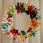 Fall Hand Print Wreath