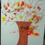 Fall Fingerprint Trees – Fall Crafts for Kids