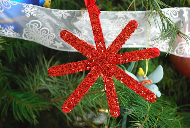 kid made Christmas ornaments