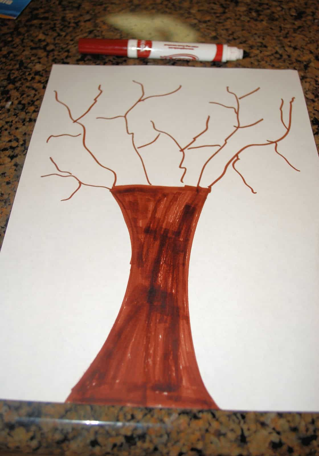 Fall Crafts For Kids Fingerprint Trees Mess For Less