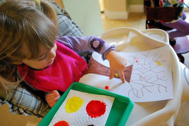 painting fall crafts for kids