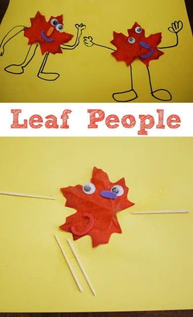 Leaf People - These cute little guys are easy to make and are the perfect Fall Crafts!