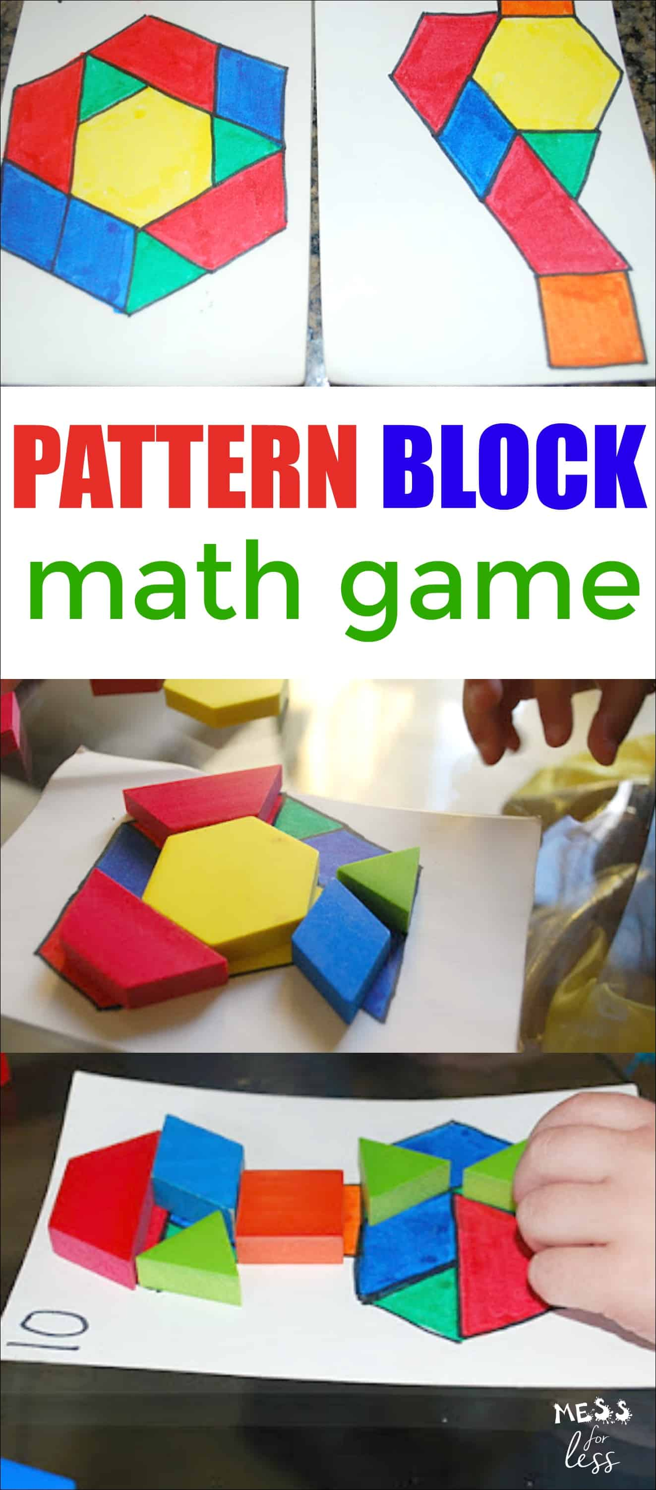 Kids can learn so much with pattern blocks. Find out how you can easily create your own pattern block game that will have kids playing and learning.