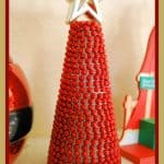 15 Minute Christmas Craft – Beaded Garland Christmas Tree
