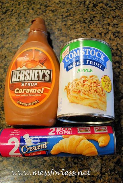 3 Ingredient Apple Pie Crescents