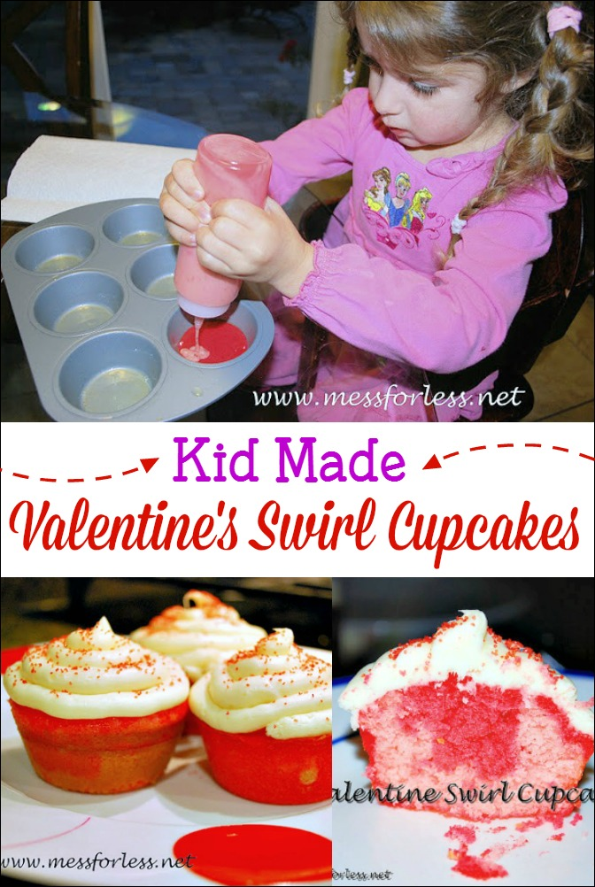 These Valentine's Day Cupcakes are simple to make with kids.
