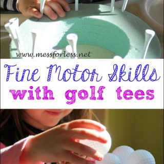Fine Motor Work with Golf Tees