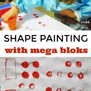 Shape Paintings Made with Mega Bloks
