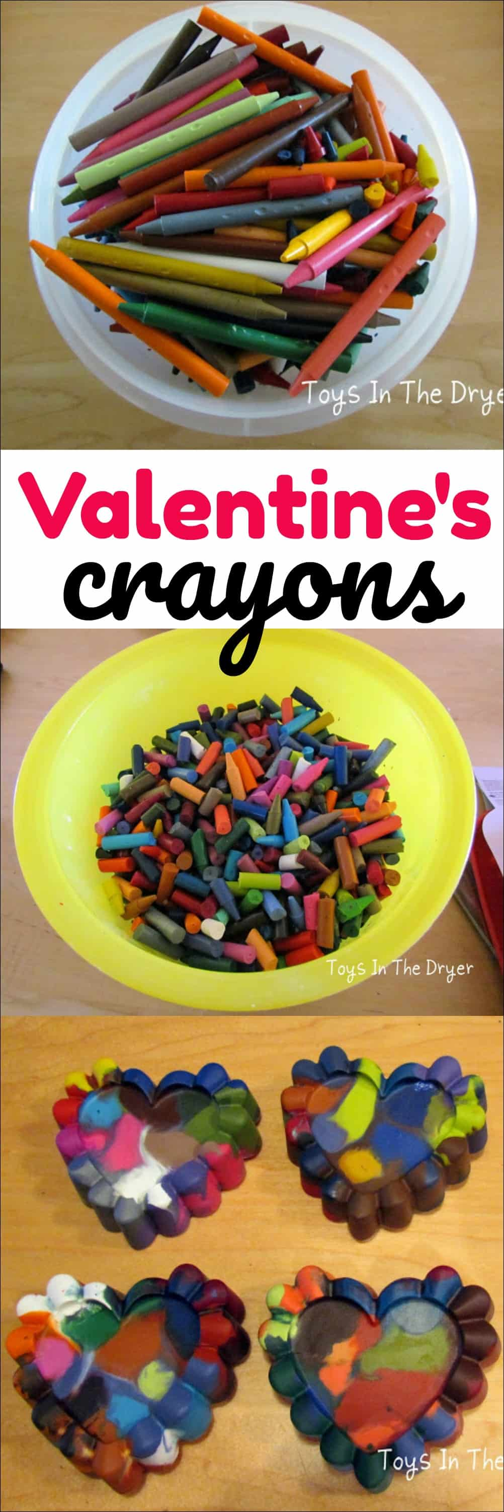 Find out how easy it is to make Valentine crayons with kids. These make great party favorites and classroom gifts.