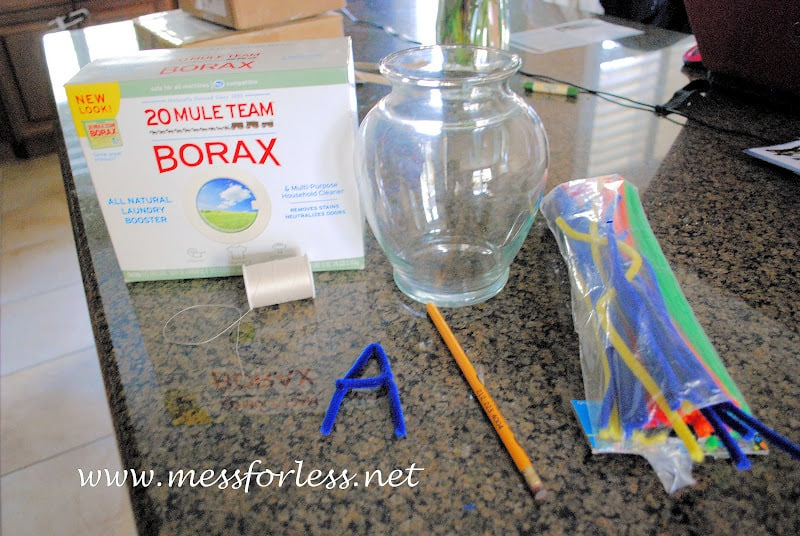borax crystal letters mess for less. Black Bedroom Furniture Sets. Home Design Ideas