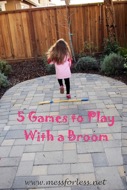 You don't needs lots of expensive toys or supplies to have outdoor fun with kids. All you need is a broom. I'll show you games to play with a broom that kids will love.