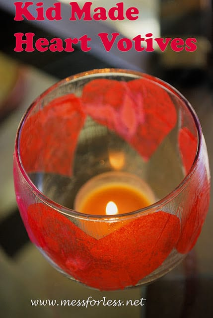 Kid Made Heart Votives - These make great gifts for teachers or loved ones.