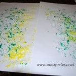 Painting with Shredded Paper
