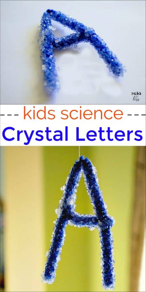 Kids will be amazed at how you can make these sparkly borax crystal letters. Science and fun in one cool activity!