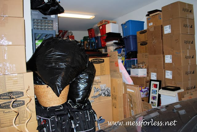 packed up garage