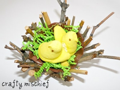 birds nest craft for kids