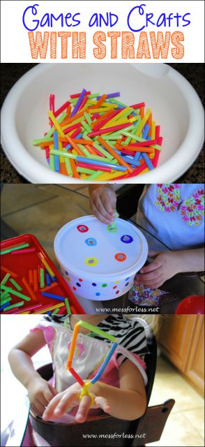 3 Ideas for Straw Games and Crafts - i must keep this frugal item on hand for kids activities!