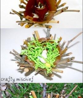 Bird's Nest Craft for Kids