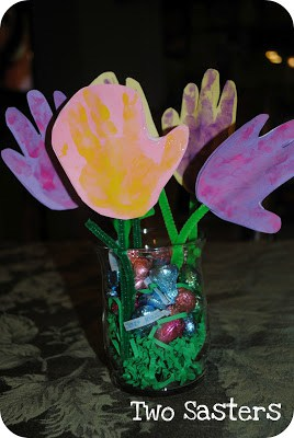 handprint flower art