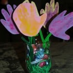 Handprint Flowers in a Vase – Guest Post from Two Sasters