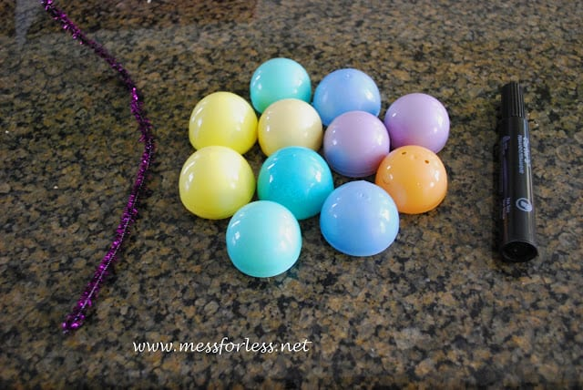 plastic easter eggs for Counting by 10's