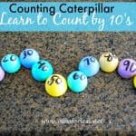 Counting Caterpillar – Counting by 10's Game