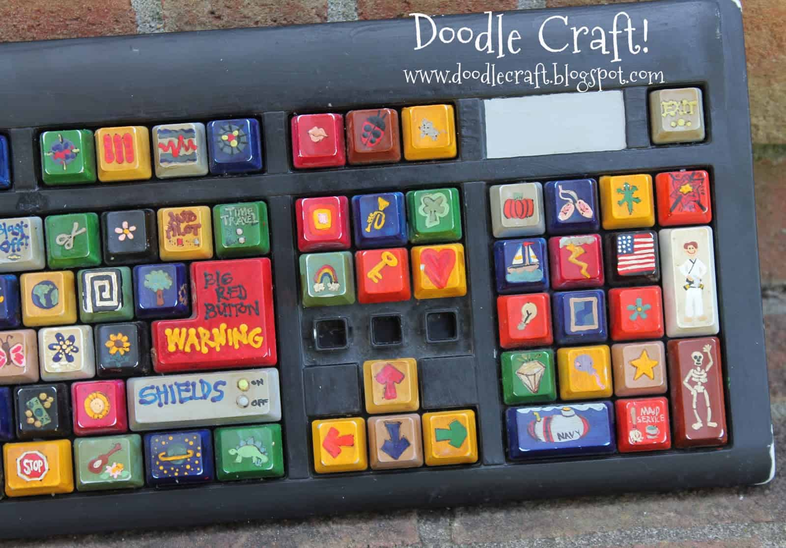 Painted Keyboard Guest Post From Doodlecraft Mess For Less