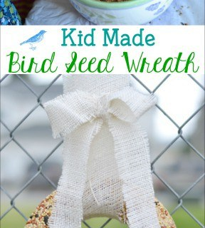 Kid Made Bird Seed Wreath