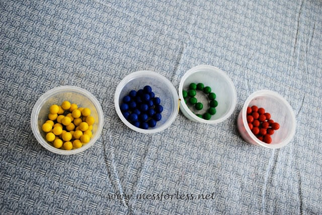 Candy Sorting, fun kids activity