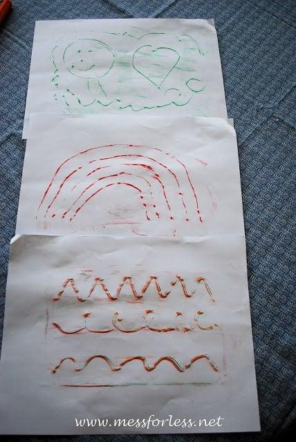 kids fun, crayon rubbing activity