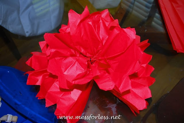 tissue paper ball tutorial