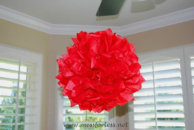 hanging tissue paper decoration
