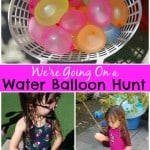 We're Going on a Water Balloon Hunt