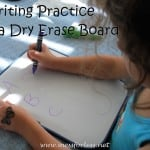 Handwriting Practice with a Dry Erase Board